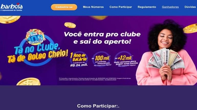 Tá no Clube Tá de Bolso Cheio Barbosa Supermercados