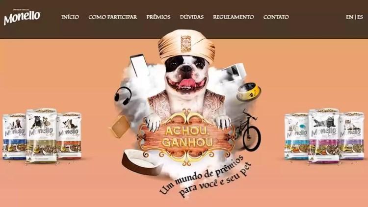 Imagem oficial da campanha Promoção Monello Achou Ganhou