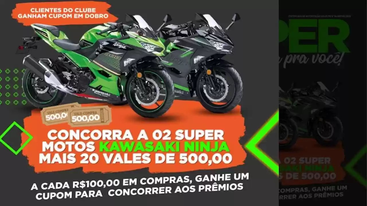 Promoção Gigantão Supermercados da Campanha Super Ninja Gigantão