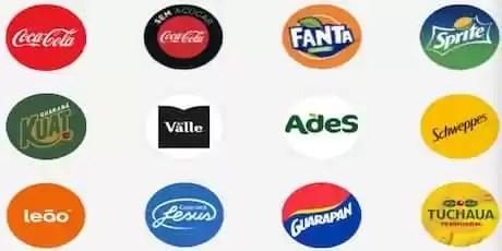 Produtos da promoção coca cola