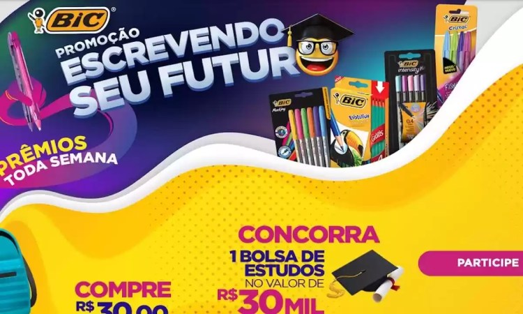 Promoção Bic Brasil Escrevendo Seu Futuro 2021