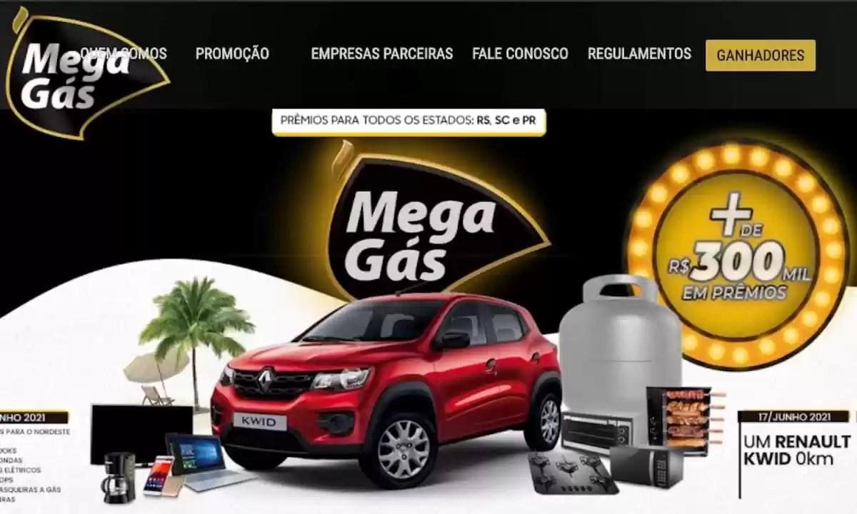 Promoção Mega Gás Mega Prêmios