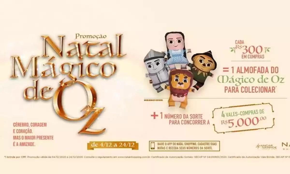 Promoção Natal Shopping Mágico de OZ