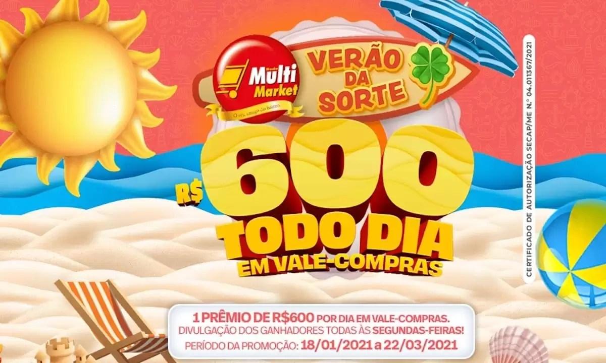 Promoção Multi Market 2021 Verão da Sorte
