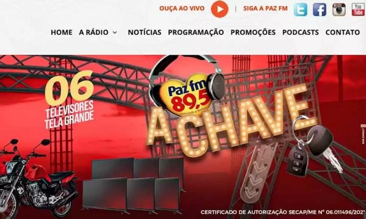 Promoção Paz FM 2021 A Chave