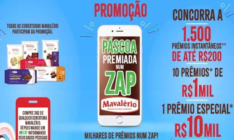 Promoção Mavalério Páscoa Premiada Num Zap 2021