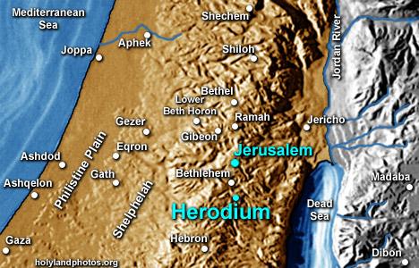Herodium Map