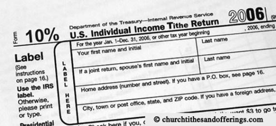 Tithing Tax Return