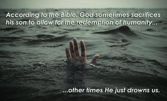 the flood atheist