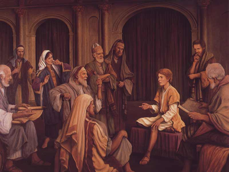 Luke 2 40-52 Boy Jesus in temple