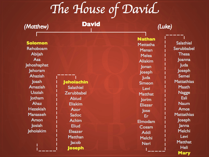 genealogy of Jesus the line of David