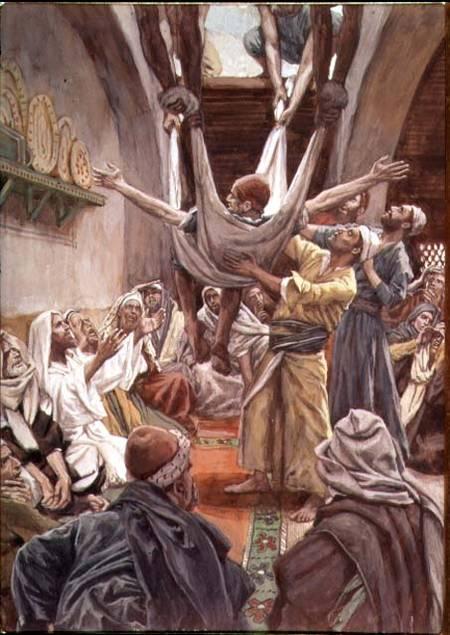 Jesus heals paralyzed man Luke 5
