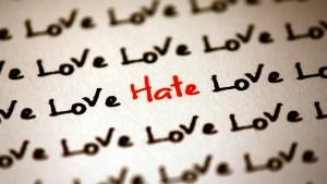 l'amour vs haine