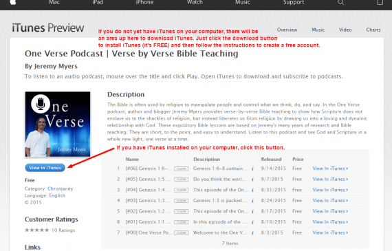 1 One Verse Podcast Verse by Verse Bible Teaching by Jeremy Myers on iTunes