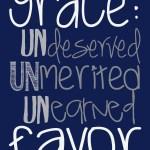 Because of Shocking, Scandalous Grace …