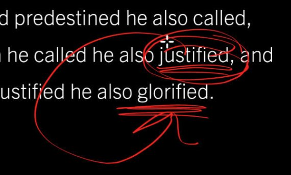 all who are justified will be glorified