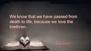meaning of 1 John 3:14