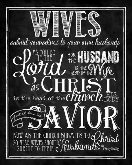 Ephesians 5:22 wives submit