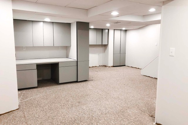 Basement Cabinets After Wide