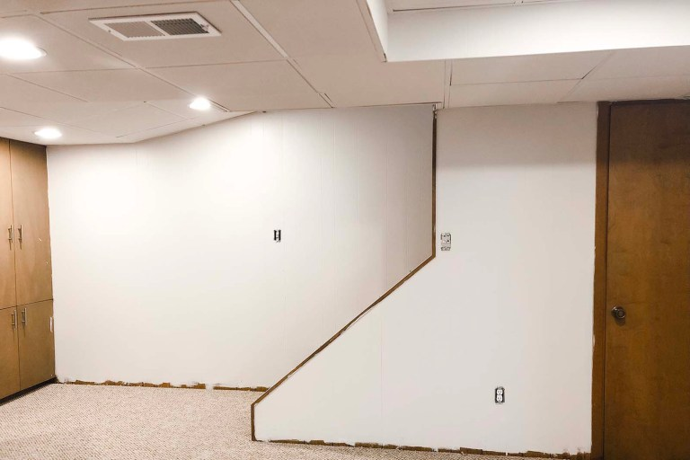 Basement After Stair Wall