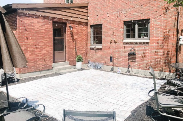 Completed Whitewashed Patio