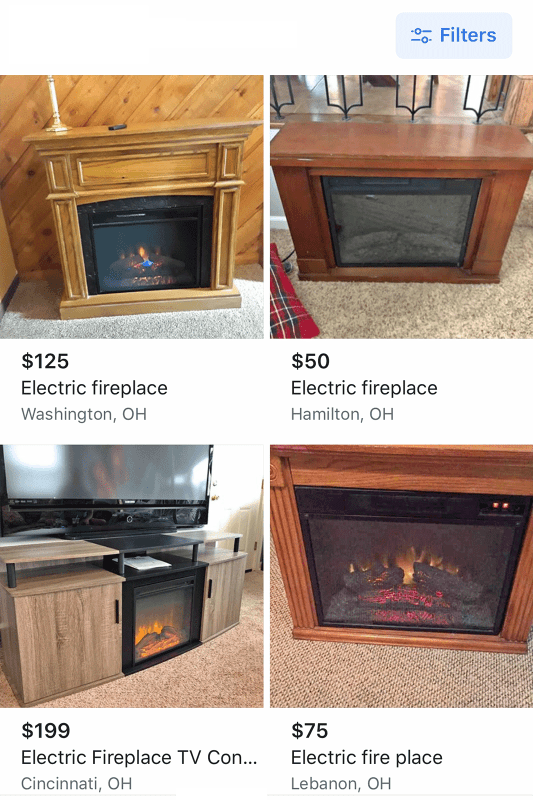 Electric Fireplace FB Search