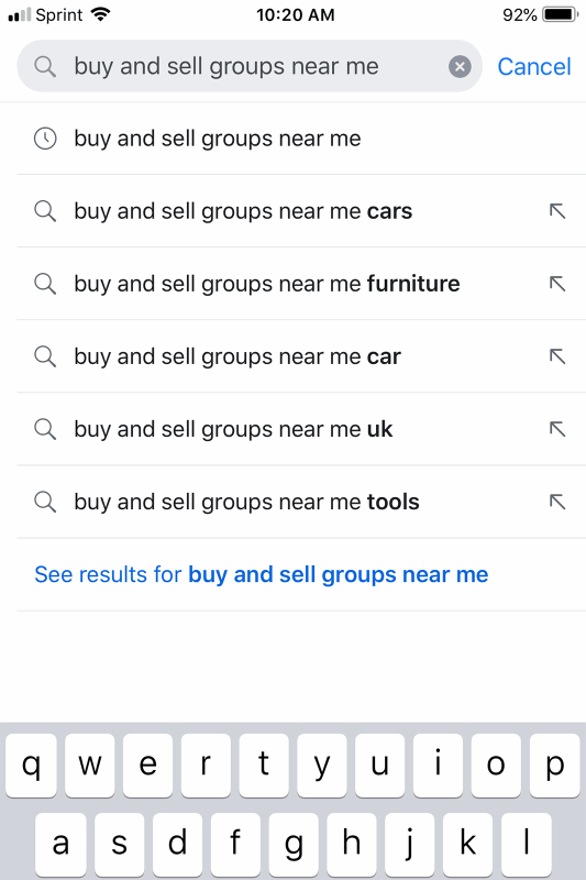 Buy & Sell Groups Near Me