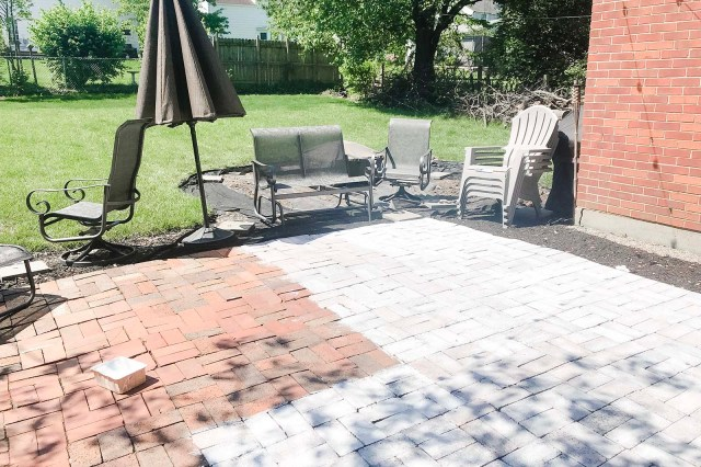 Whitewashing Patio 2019 Process