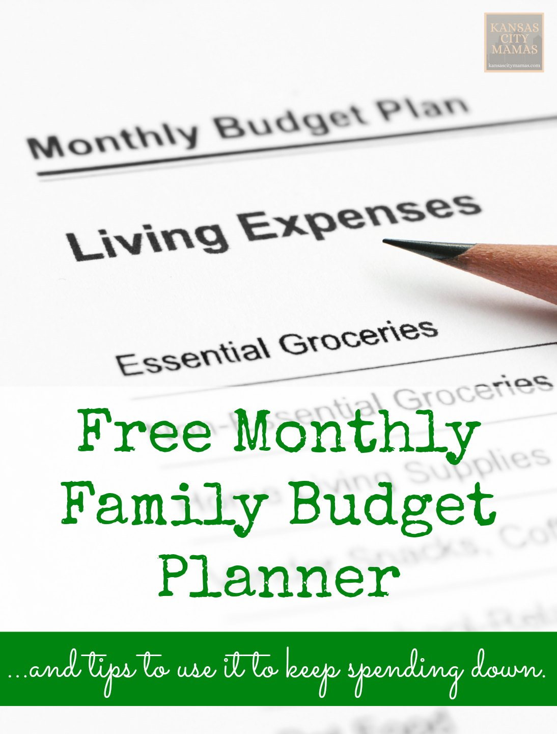 Free Monthly Family Budget Planner