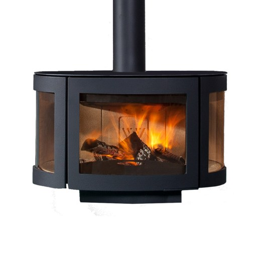wanders black pearl floating wood stove