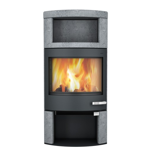 skantherm ator plus wood stove black soapstone