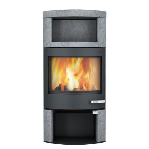 skantherm ator plus wood stove black soapstone