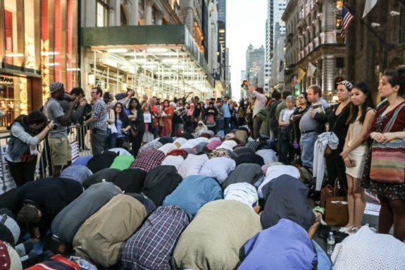 Muslims Pray At Trump Tower