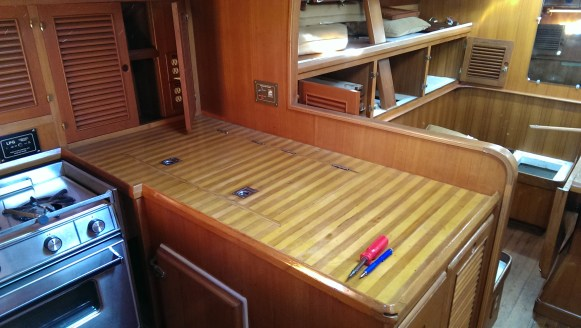 The galley countertop and reefer/freezer lids