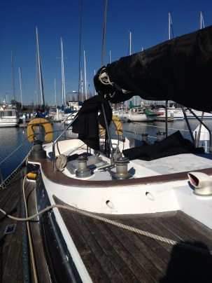 Looking aft from midship