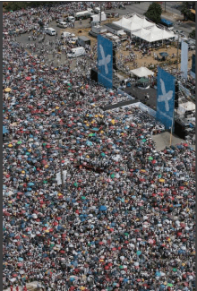 Thousands gather at the Revolution Square