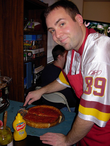 Jason with Giordano's pizza