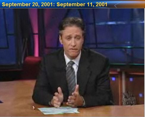 Jon Stewart on his first post-9/11 broadcast