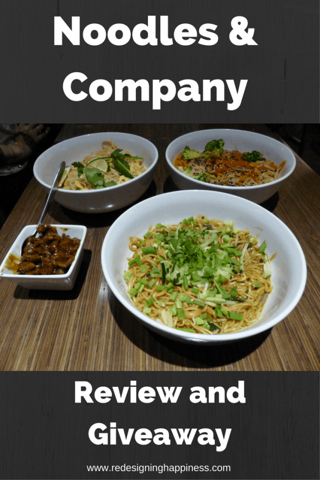 Noodles & Company Review and Giveaway