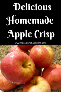 delicious-homemade apple crisp
