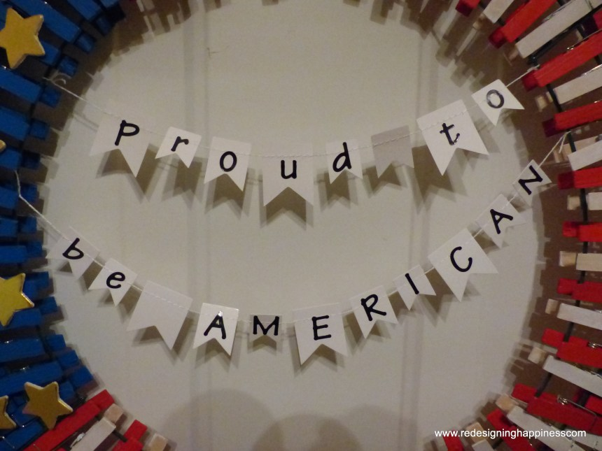 Patriotic Clothespin Wreath