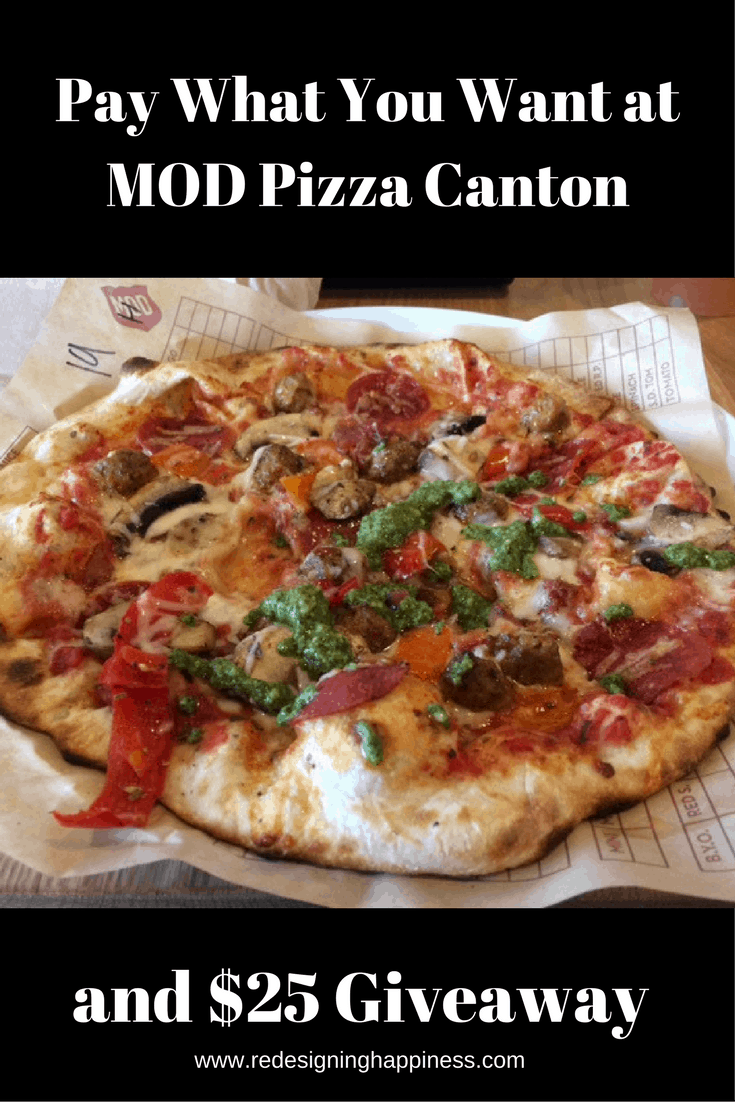 Pay What You Want at MOD Pizza Canton and $25 Giveaway