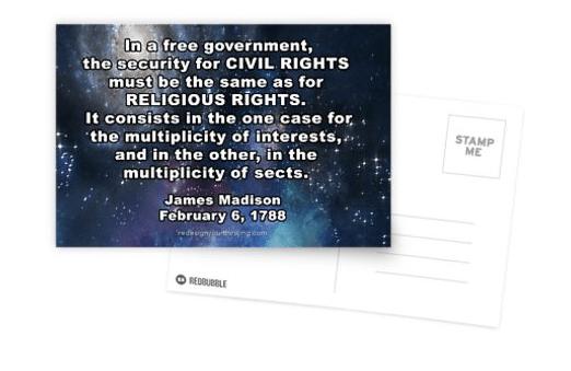 Postcards - Religious Freedom Argument