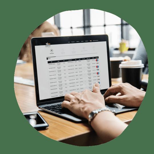 Gerenciador financeiro e link de pagamento