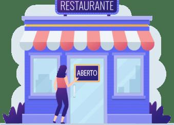 Ilustração de restaurante