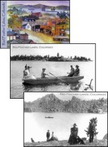 Historical postcard scenes of Red Feather Lakes
