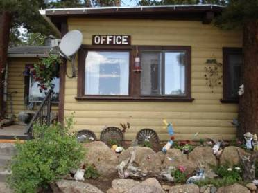 Emma Grauberger's office and home was originally built by Jimmie O'Rorke,   and gnome garden.