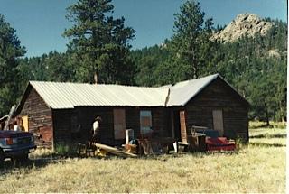 Original cabin location at the Shambhala Mountain Center