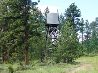 Water tower still standing at the CCC Camp as of 2015