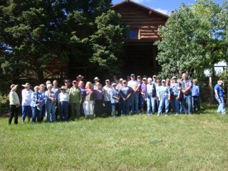 Tour Participants in from of Maxwell home built in the late 1920's